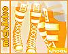 *M Orange Sneakers