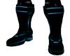 male blue pvc boots
