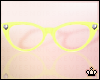 Yellow Cateye Glasses