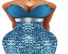 Blue Adara Gown BMXXL