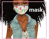 Kids Teen Floral Mask