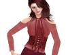 TF* Wine Modest blouse