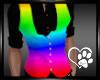 Rainbow Vest Black Shirt