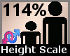 Scale Height 114% F A
