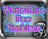 White/Blue PAW necklace