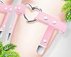 d. heart garters pink