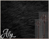 Key Black Fur Oval Rug