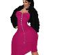 ELLA BLACK FUR DRESS