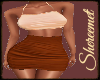 rust skirt and top TXM