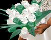 Teal/white wed. bouquet