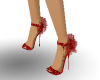 metalic red shoes