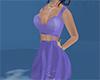 short purple dress
