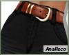 ABlack Jeans+Belt XL