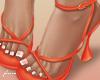 f. orange sandals