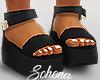 ṩ Platform Sandals Blk
