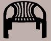 (L) Plastic Black Chair
