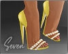 !7 Yellow Shimmer Shoes