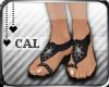 [c] Gem Sandals Black