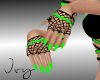Toxic Green Lust Gloves