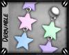 o: Star Drop Earrings M