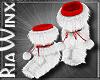 RedWhite Fur Uggg Boot