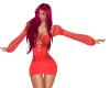 Sexy Red Orange Dress