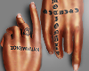 mine hand tattoo
