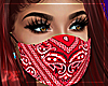 !D Red Bandana Mask