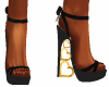 Gold Heart Heels 3