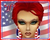 *jf* USA Flag Eyebrows F
