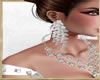 ~H~Wedding Earrings Wh