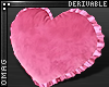 0 | Heart Ruffle Pillow