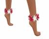 flower anklet luau frost