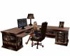 Brown Wolf Computer Desk