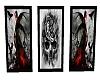 3 frame gothic woman art