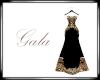 Black n Gold Gala Dress