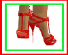 Red Christmas Heels