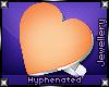 {-} Heart Ring | Orange