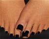 All black pedicure