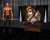 large animated TV