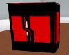 frigo noir et rouge