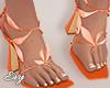 Orange Petal Heels v2
