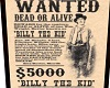 Wanted Billy the Kid