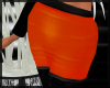 Orange Skirt Black Tight