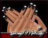 Black Nails White Tip