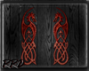 Black and Red Demon Wing
