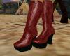 (B) Hot Burgundy Boots