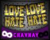 ∞ Love Hate Studs M