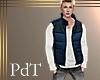 PdT Blk&Blue Puff Vest M