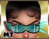 MrsJ Aqua Spike Glasses